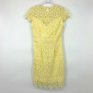 B. Darlin Yellow Floral Lace Sheath Dress